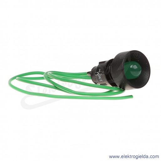 Lampka sygnalizacyjna LG-D10-230AC zielona LED 10mm 230VAC