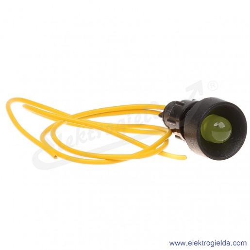 Lampka sygnalizacyjna LY-D10-230AC żółta LED 10mm 230VAC