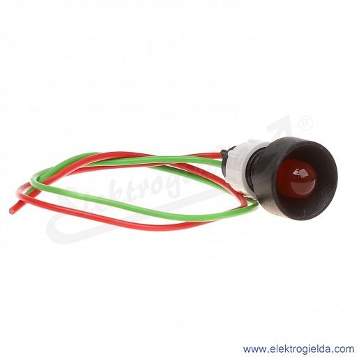 Lampka sygnalizacyjna LR-D10-24AC/DC czerwona  LED 10mm 24VAC/DC