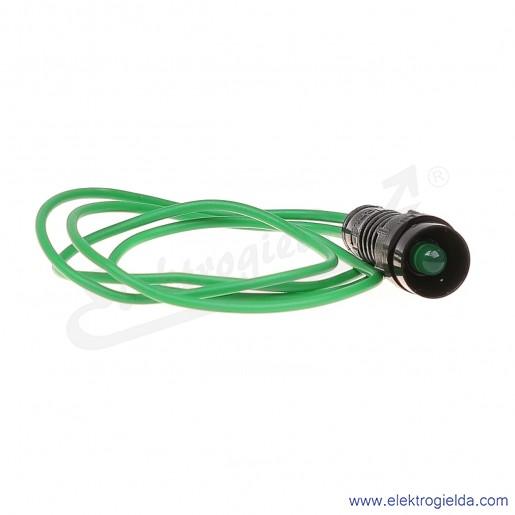 Lampka sygnalizacyjna LG-D5-230AC zielona  LED 5mm 230VAC