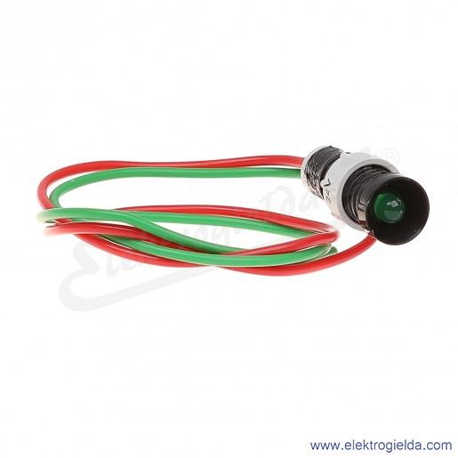 Lampka sygnalizacyjna LG-D5-24AC/DC zielona  LED 5mm 24VAC/DC