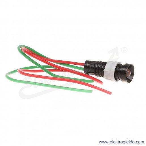 Lampka sygnalizacyjna LR-D5-24AC/DC czerwona  LED 5mm 24VAC/DC
