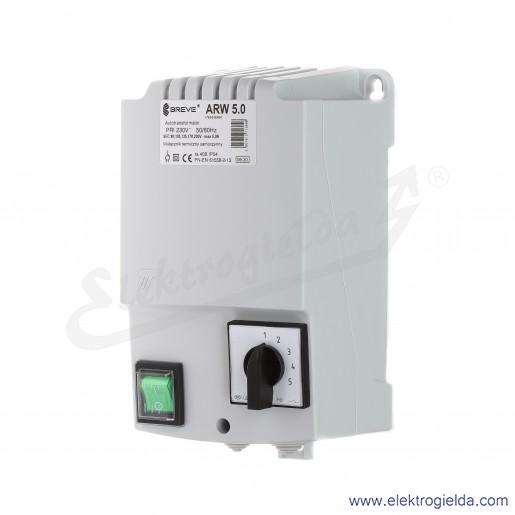 Regulator autotransformatorowy ARW 5.0 - 5A 230VAC, 5-stopniowa regulacja
