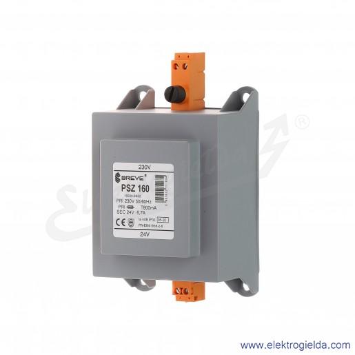 Transformator bezpieczeństwa w obudowie PSZ 160 230/24V montaż na szynie DIN IP30