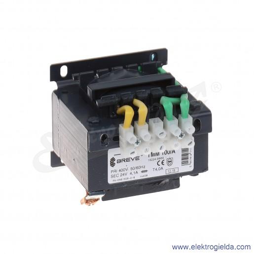 Transformator bezpieczeństwa jednofazowy otwarty TMM100 400/24V