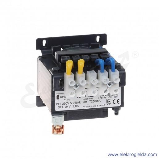 Transformator bezpieczeństwa jednofazowy otwarty TMM50 230/24V