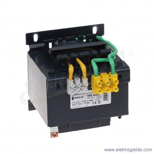 Transformator bezpieczeństwa jednofazowy otwarty TMM400 230/24V
