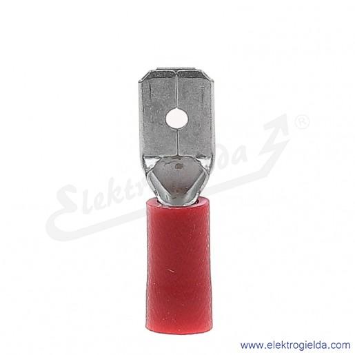 Wsuwka izolowana WI 6,3-1/0,8 PCV z tuleją izolacyjną
