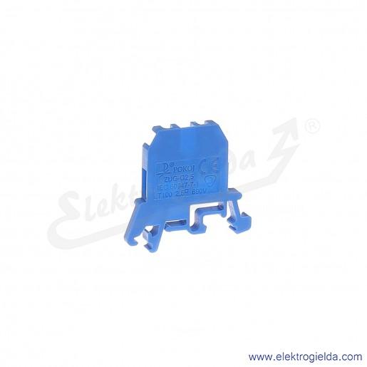 ZUG G 2,5  Złączka niebieska jednotorowa gwintowa