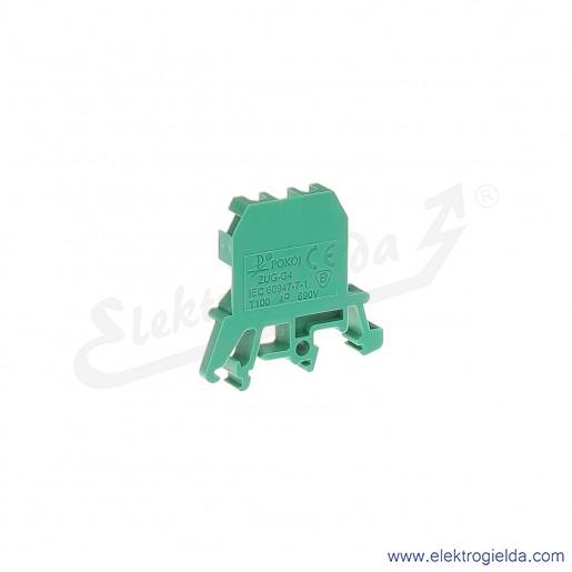 ZUG G 4  Złączka zielona jednotorowa gwintowa