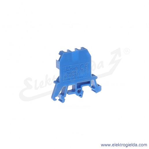 ZUG G 4  Złączka niebieska jednotorowa gwintowa