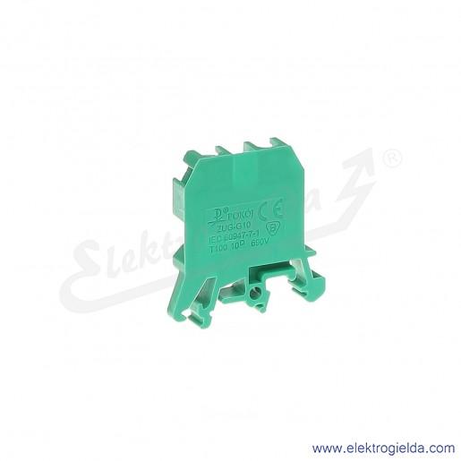 ZUG G 10  Złączka zielona jednotorowa gwintowa