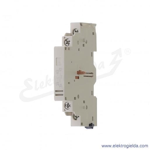 GVAN11 Blok styków pomocniczych 1NO+1NC Montaż boczny, zaciski śrubowe
