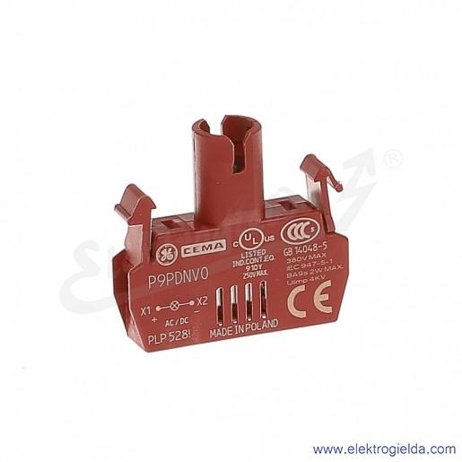 Moduł podświetlenia P9PDNV0 BA9S bez żarówki (montaż na ramce) pełne zasilanie max. 380V AC/DC