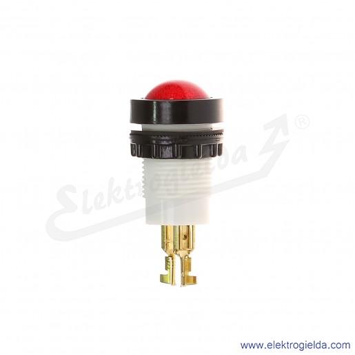 Lampka sygnalizacyjna D22Sc 24-230V AC/DC czerwona z przyłączami wsuwkowymi